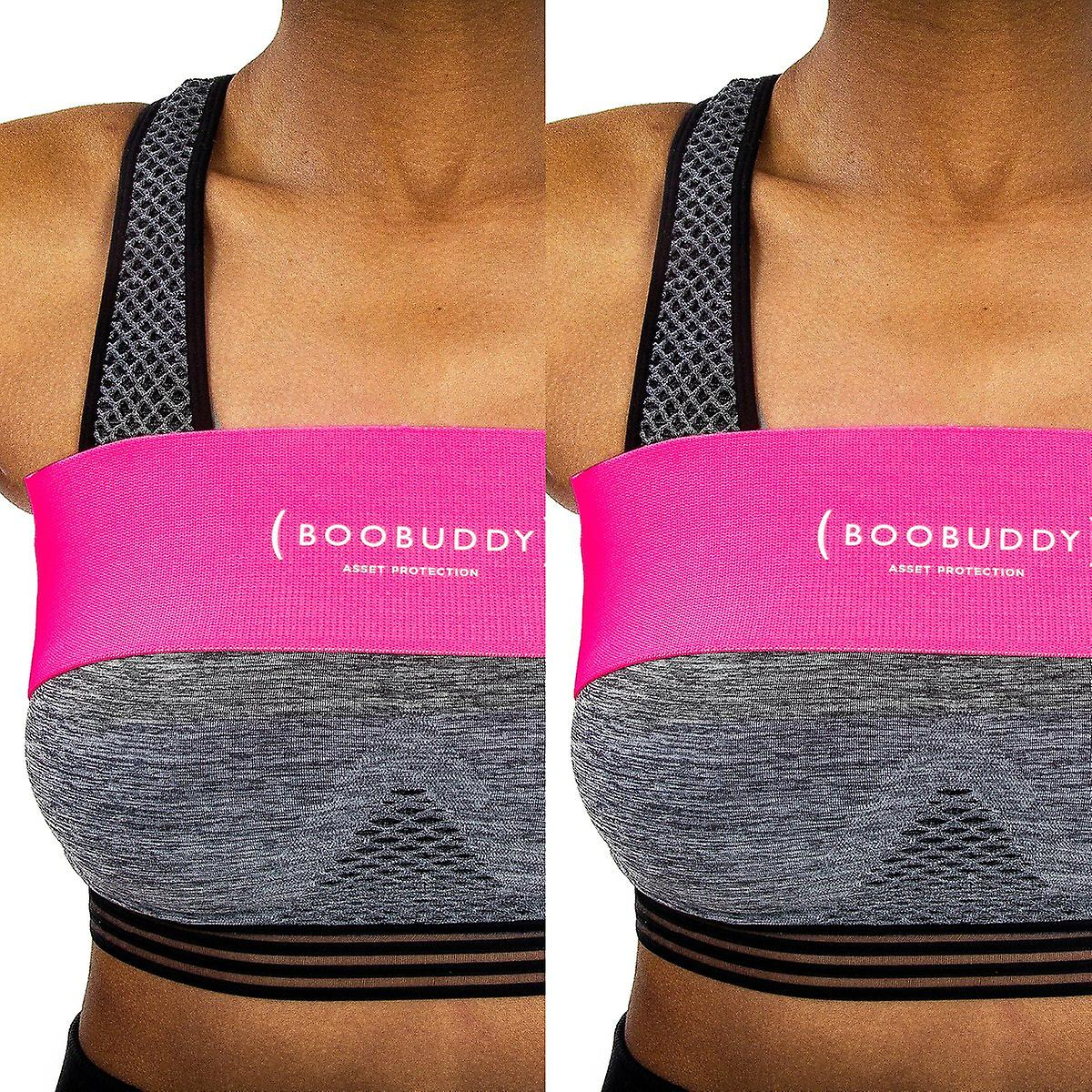Boobuddy breast support band twin pack – pink