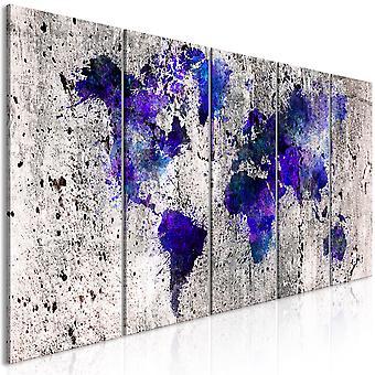 Tavla - World Map: Ink Blots (5 Parts) Narrow