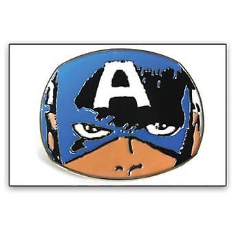 Belt Buckle - Marvel - New Captain America Face Metal Comic bb147023mvl
