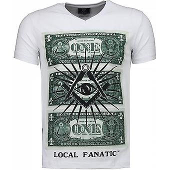 One Dollar Eye - T-shirt - Biały
