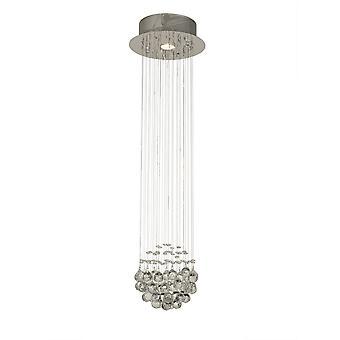 Diyas Colorado Pendant Cluster 1 Light Polished Chrome / Crystal