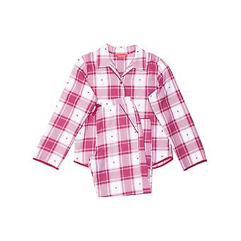 Minijammies 5497 Dziewczyna's Susie Cherry Red Check Cotton Pyjama Set
