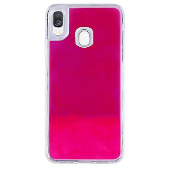 Fall CoolSkin flytande Neon TPU för Samsung A20E Pink