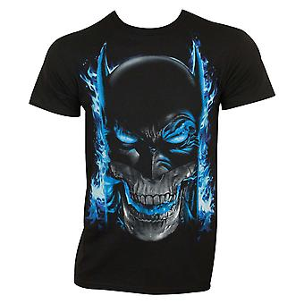 Batman miehet ' s Black Blue Flames T-paita