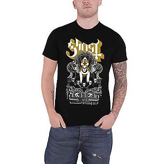 Ghost T Shirt Wegner Gold Band Logo Design Official Mens New Black