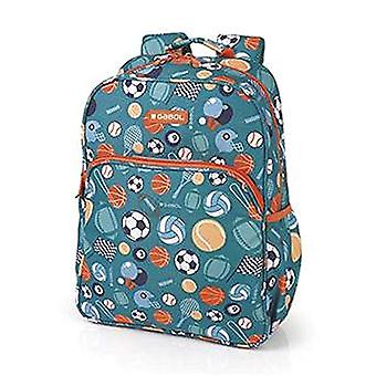 Gabol Mochila Gym 29x38x12cm Children's backpack - 38cm - Blue (Multicolor)