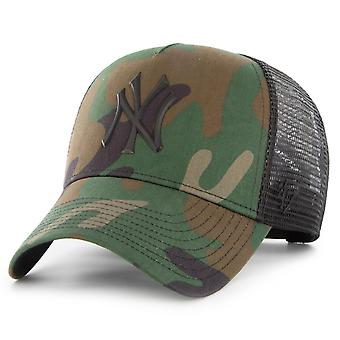 47 Brand Adjustbale Trucker Cap - New York Yankees wood camo