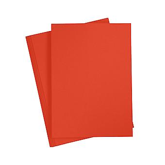 20 A4 Pillar Box Red Card Sheets for Crafts