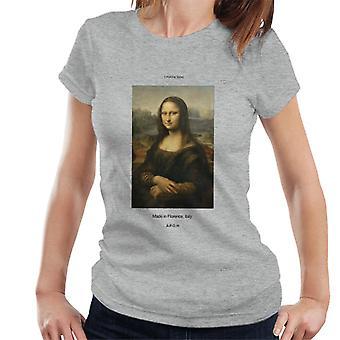 A. P. O. H Mona Lisa lavet i Florence kvinder ' s T-shirt