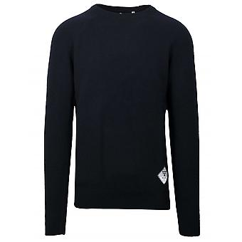 Barbour Beacon Navy Blue Wool Jumper