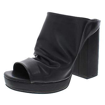 Madden Girl Womens Lambie Faux Leather Slouchy Mules Black 8 Medium (B,M)