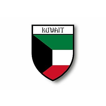 Sticker Sticker Sticker Motorcycle Car Blason City Flag Kuwait