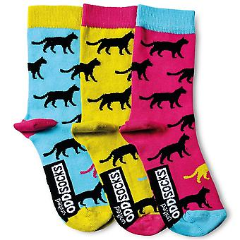 United Oddsocks Set Of 3 Holly Cat Women's Socks