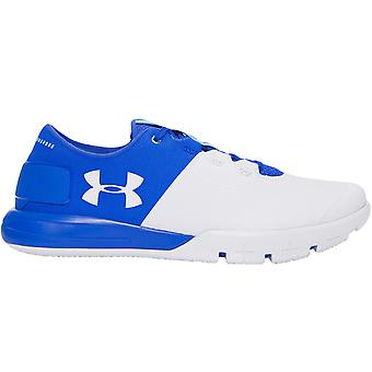 Under Armour Mens Charged Ultimate TR 2.0 Lace Up Sports Trainers Shoes - Blue