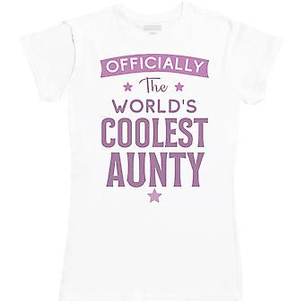 Offically The World's Coolest Aunty - Womens T- Shirt