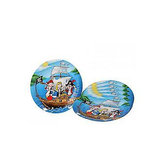 Parteibevorzugungen Papptellern Pirate Party 23 cm 6 Stück