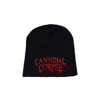 Cannibal Corpse Beanie Hat Classic Original Band Logo Official New Black