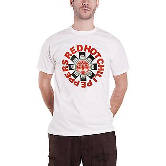 Red Hot Chili Peppers T Shirt Aztec band logo new Official Mens White