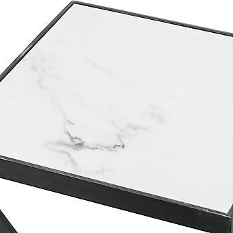Hill Interiors Grey And Marble Z Tray Table