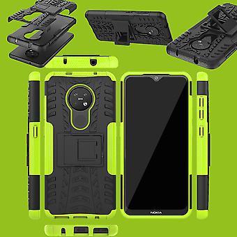 Voor Nokia 6,2/7,2 Hybrid Case 2 delige outdoor groen Case cover bescherming