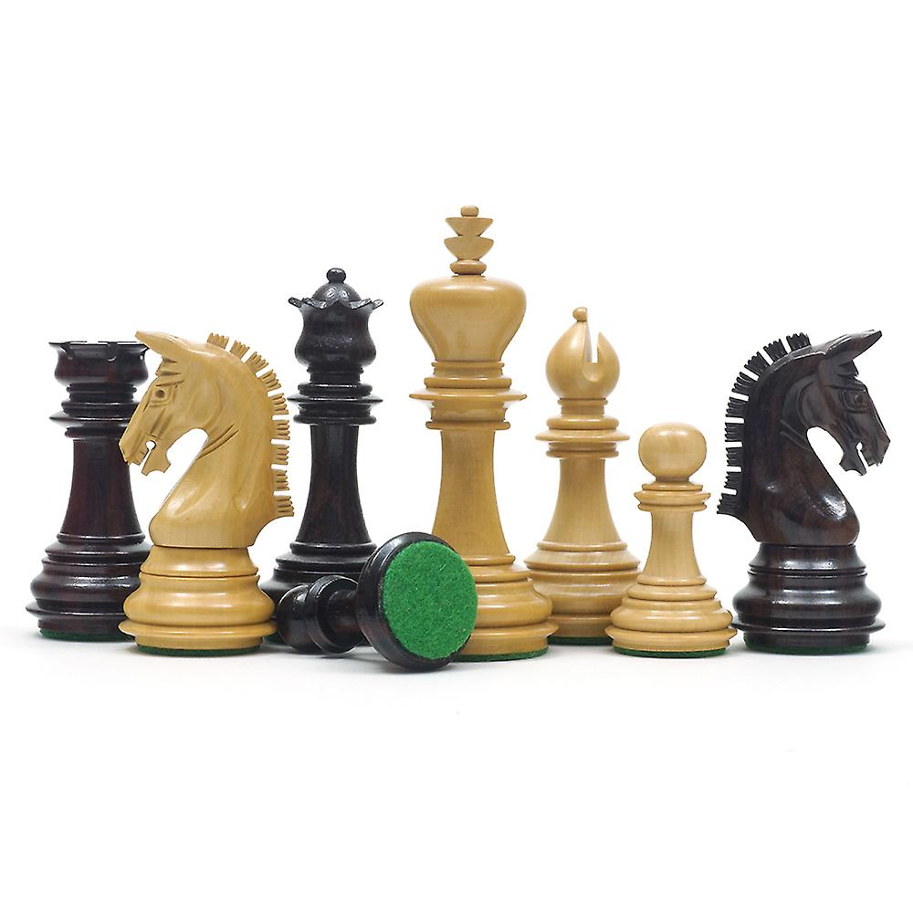 Imperial Knight Rosewood Chessmen 3.75 inches