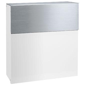 MOCAVI Box 580 Brevlåda vitt rostfritt stål (RAL 9003)