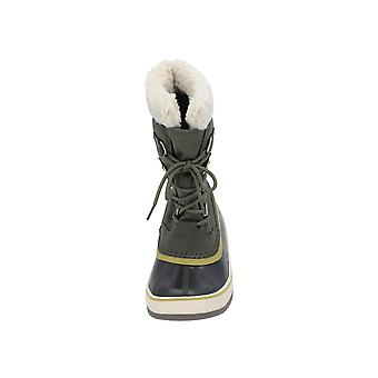 Sorel Winter carnival women's boots green lace-up boots winter
