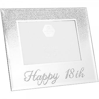 Leonardo Collection Silver Glitter Frame 18th Birthday