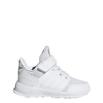 Adidas Junior Rapidarun strikk sko hvit