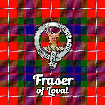 Art2Glass Tartan Clan Coaster - Fraser Of Lovat