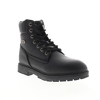 Lugz Brace HI  Mens Black Leather Lace Up Casual Dress Boots
