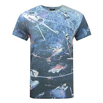 Star Wars Huge Space Battle Men's T-Shirt