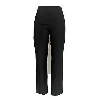 Women w/ Control Women's Petite Slim Leg Pants Tummy Control Black A225790