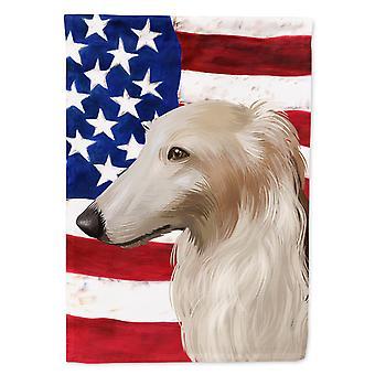 Carolines Treasures  CK6449CHF Borzoi Dog American Flag Flag Canvas House Size