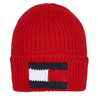 Tommy Hilfiger Wool Blend Knitted Flag Beanie