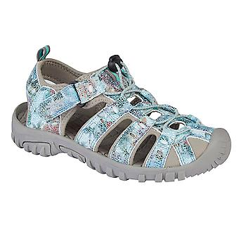 PDQ Womens/Ladies Snake Print Sports Sandals