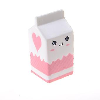 Milk Box Toy - 1 Pcs Jumbo Milk Box Squishies Slow Rising Squishy Milk Bottle Scented Charm Toy To Relieve Stress