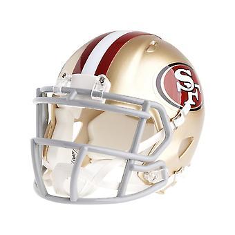 Kask futbolowy mini Riddell - NFL San Francisco 49ers prędkości