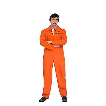 Costume prisoner convict jail Prisonbreak jumpsuit orange mens prisoner costume