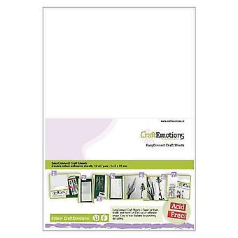 CraftEmotions EasyConnect (doppelseitiger Klebstoff) Craft Blätter A5 - 10 Blatt