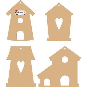 Dutch Doobadoo Dutch MDF art - Bird houses 460.440.290 150x140mm