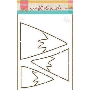 Marianne Design Craft Stencil Mountains By Marleen Ps8045 149x149 mm