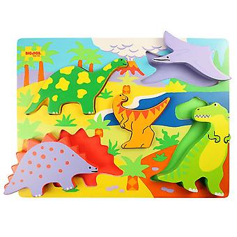 Bigjigs Brinquedos Chunky Lift Out Puzzle Dinossauros