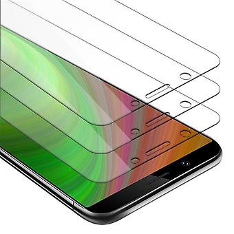 Cadorabo 3x Tank Foil for Vivo Y71 - Protective Film in KRISTALL KLAR - 3 Pack Tempered Display Protective Glass in 9H Hardness with 3D Touch Compatibility