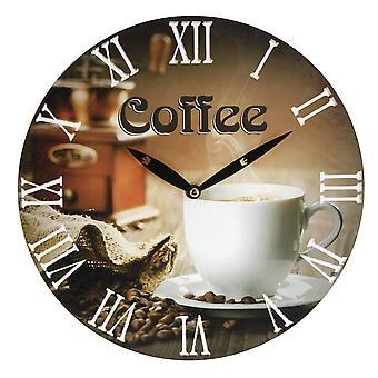 Coffee design Wandklok  28cm