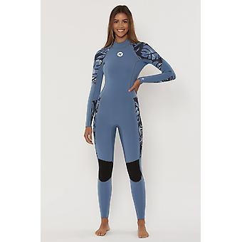 Sisstrevolution 7 seas 3/2 back zip full wetsuit - deep navy