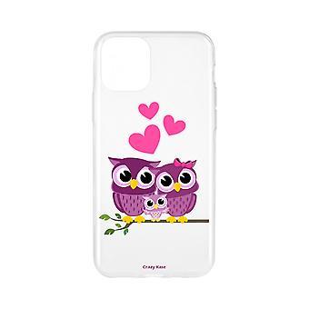 Casco para iPhone 11 Pro Max Patrón de familia suave Búho