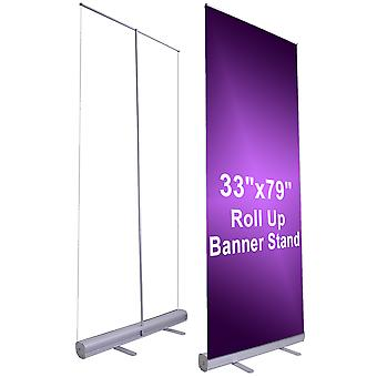"""Instahibit 33""""x79"""" Economy Retractable Roll up Banner Stand Display Aluminum Promotion Sign"""