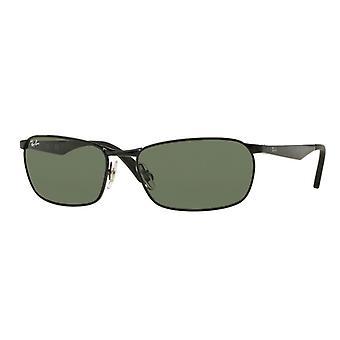 Ray-Ban RB3534 002 Czarne/zielone okulary przeciwsłoneczne