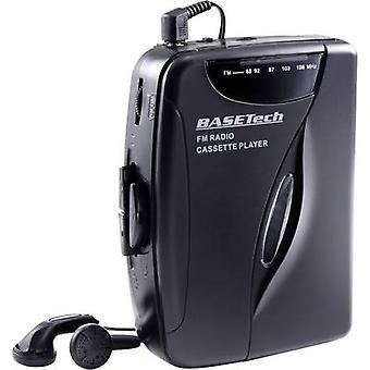 Basetech KW-118C Portable audio tape player Black